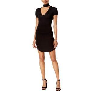 Bar III Choker Shift Dress Black Size Medium NWT